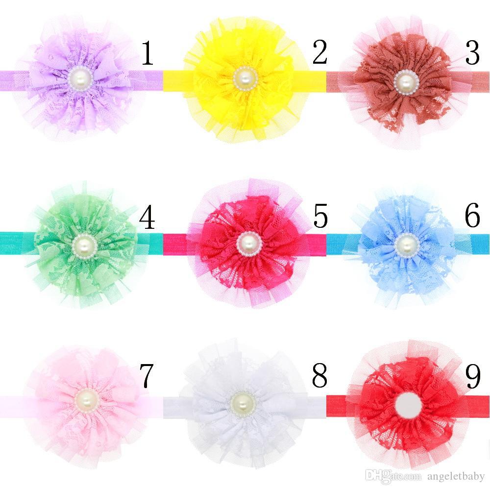 Baby Girls beautiful Flower Headbands Elastic Headband Hair Accessories Headwear Photography H045