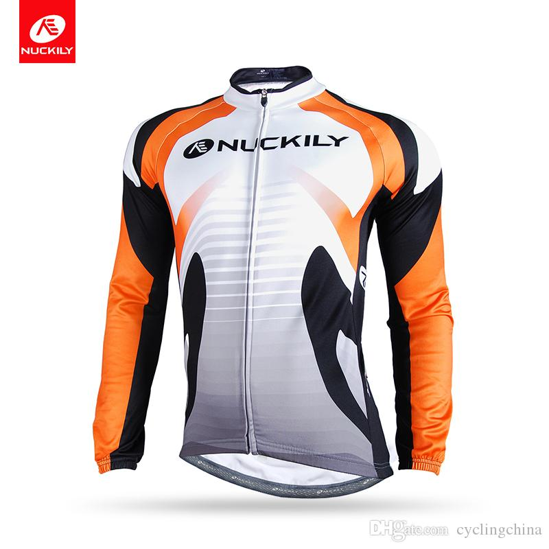 NUCKILY Men Reflective Road Bike Wear Clothes Custom Long Sleeve ... ff1f8da11