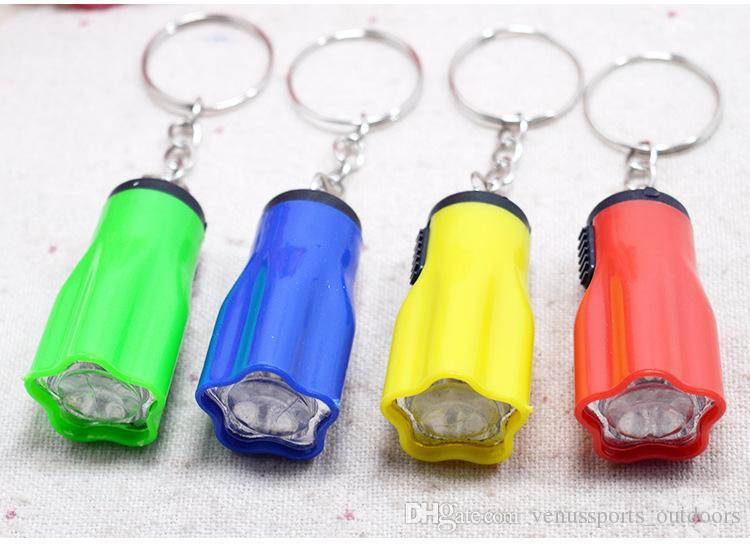 Wandern Camping Outdoor Gear LED Mini Keychain super helle Taschenlampe Blume Form Schlüsselanhänger Ring Mischfarben