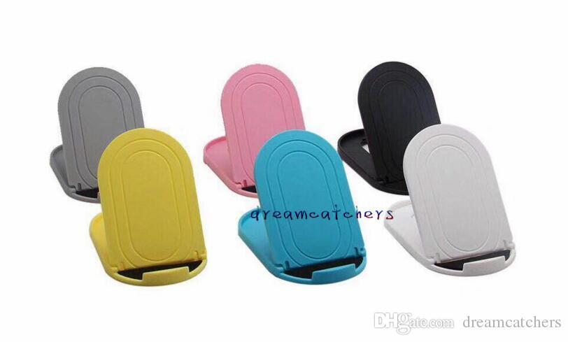 Pieghevole supporto da tavolo pieghevole flessibile regolabile Supporto universale Supporto telefono cellulare pieghevole Samsung S9 iphone X HTC Smartphone