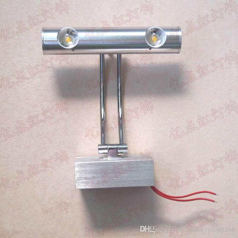 . Rocker Arm LED Wall Light LED Spotlight Mirror Headlight Bar KTV Decorative  Mirror Lighting Hotel Bathroom Mirrors Lights LED