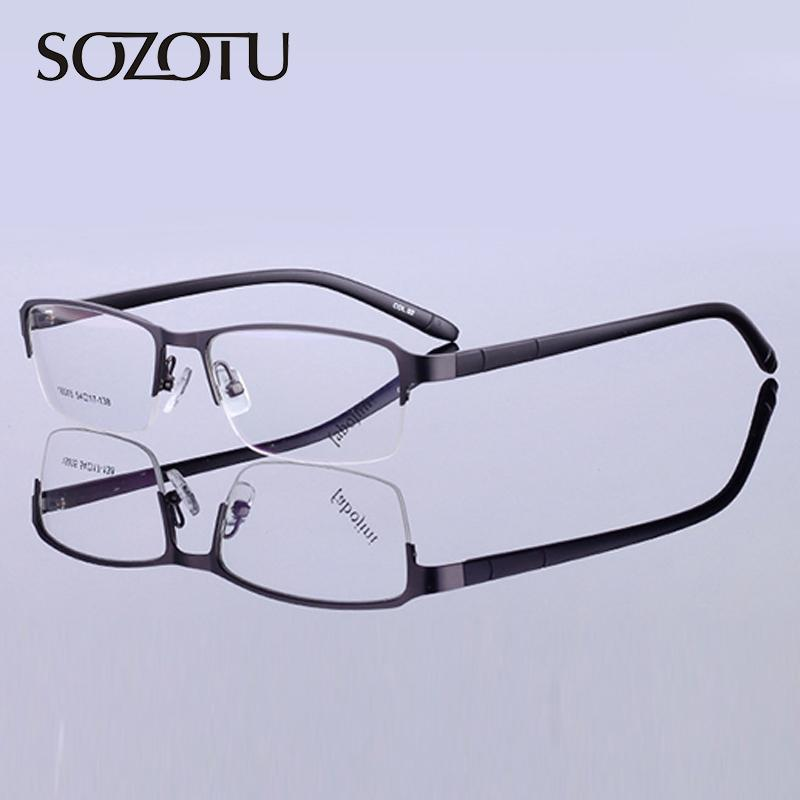 cdd18dc54e 2019 SOZOTU Eyeglasses Frame Men Korean Computer Optical Prescription  Glasses Spectacle Frame For Male Transparent Clear Lens YQ554 From  Exyingtao