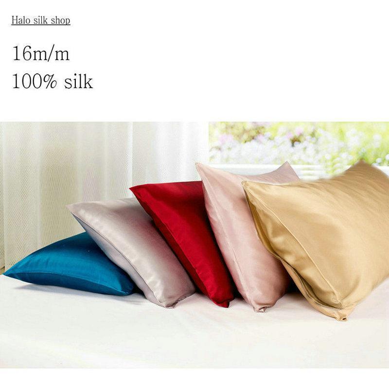 40mM Envelope Style Double Face Silk Pillowcase Satin Pillow Cover Enchanting Envelope Style Pillow Cover