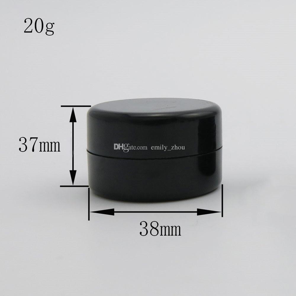 Vaso cosmetico di plastica vuoto di viaggio 100 x 5G 10G 20G completo Piccolo campione di trucco Custodia di polvere di unghia sub-imbottigliamento