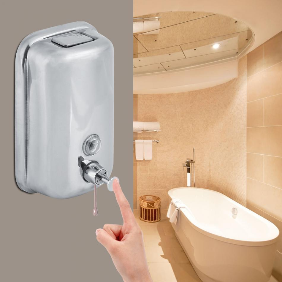 2019 8001000ml Bathroom Wall Mounted Stainless Steel Soap Toilet
