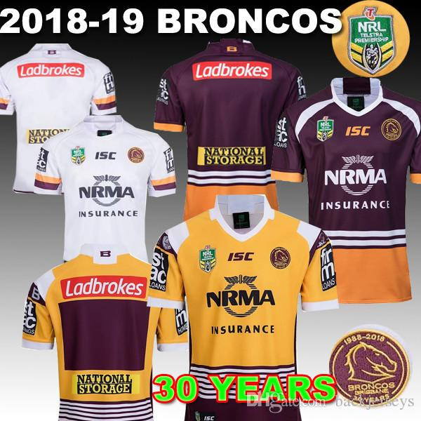 2019 BRISBANE BRONCOS Rugy Jerseys 2018 NRL Jersey Mens Home Away Shirt 30  Year Jersey Delivery Guaranteed From Backjerseys 2bebc9d8e