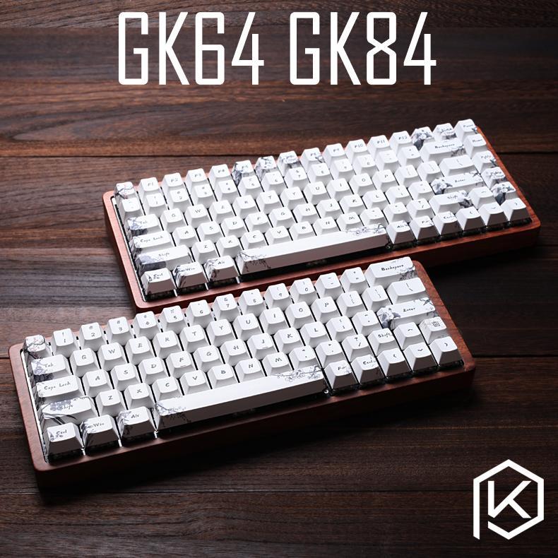 gk64 gk84 Mechanical keyboard 64 key 84 key dye sub keycaps wooden custom  light rgb cherry profile keycap starry night dhl