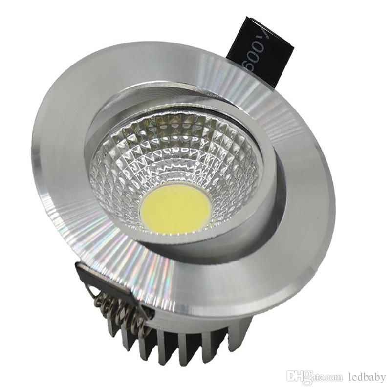 9W led down lights dimmable cob led recessed light downlight lamp warm nature cold white AC85-265v + drivers