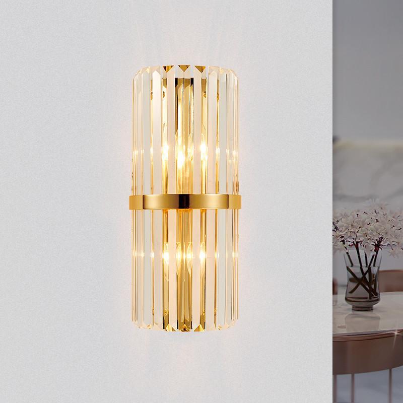 Applique moderna da parete in cristallo dorato Applique da parete per  soggiorno Applique da comodino in camera da letto Apparecchi di  illuminazione ...