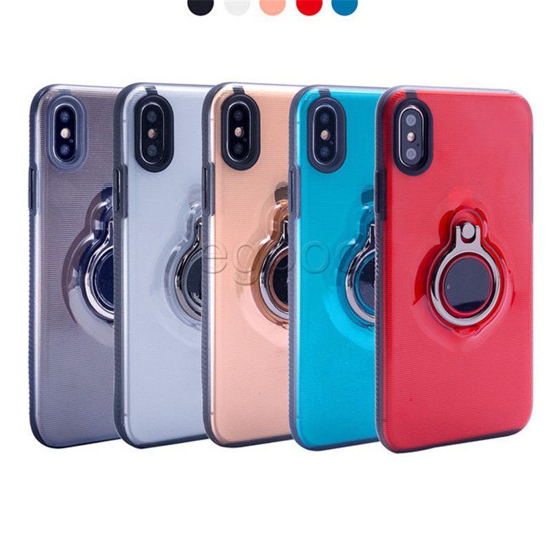 Ring Kickstand Fall Hybridschutz Stoßfest Magnetische Auto-Case-Abdeckung für iPhone XR xs max 8 7 6 6S plus Sumsung S9 plus Note8