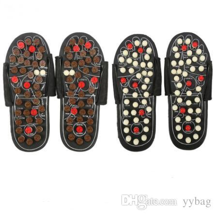eaefd4446f7 2019 Foot Massage Slippers Acupuncture Therapy Massager Shoes For Legs  Acupoint Activating Reflexology Feet Care Massageador Sandal From Yybag