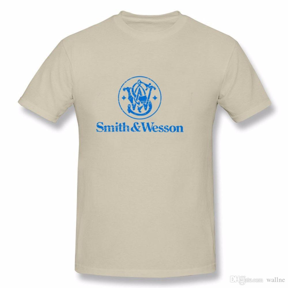 f4f6791a0 Drop Shipping Smith Wesson Men T Shirt Printing Shirts Short Sleeve T Shirt  Plus Size XS 3XL Cool T Shirt Online T Shirt 24 Hours From Wallne, ...