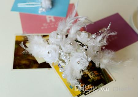 Fashion Feather Pearl Hair Pins Crystal Hair Jewellery Wedding Bridal Jewelry Hair Accessories to choose