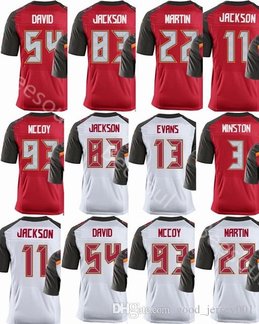 Mens Tampa Bays Buccaneer Jersey  3 Jameis Winston  13 Mike Evans 22 ... 0a9e1b199