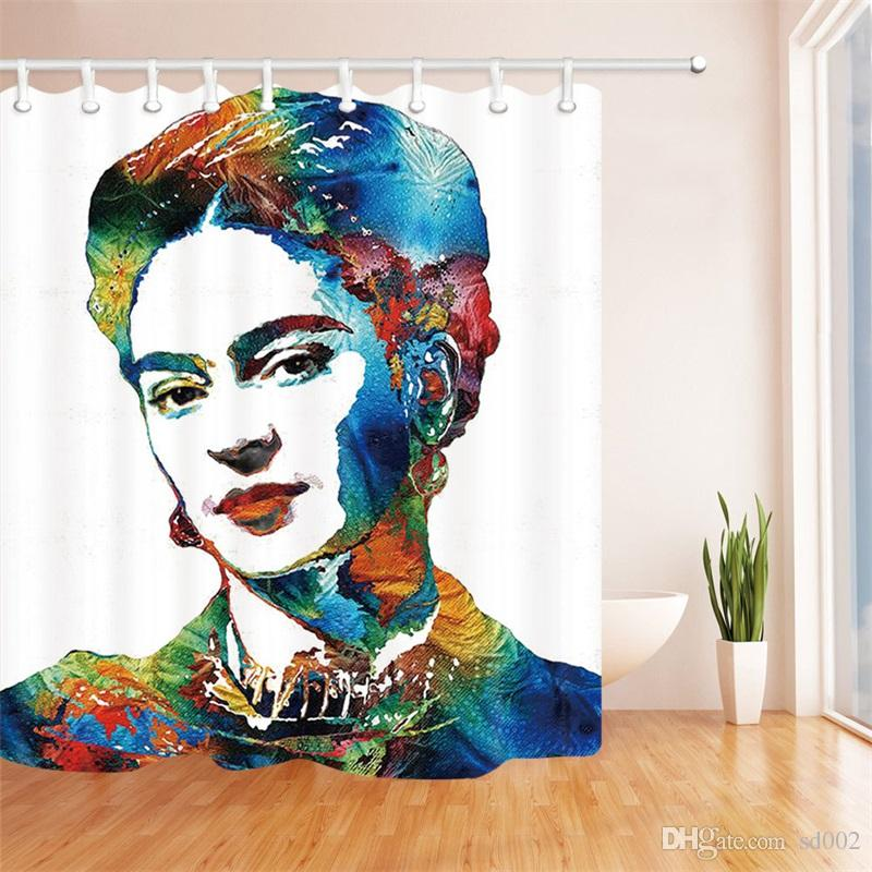 2018 Frida Kahlo Shower Curtain Water Proof 3D Digital Home Decoration Printing Bathroom Accessories With Hooks Beauty Woman 33mb3 Bb From Sd002