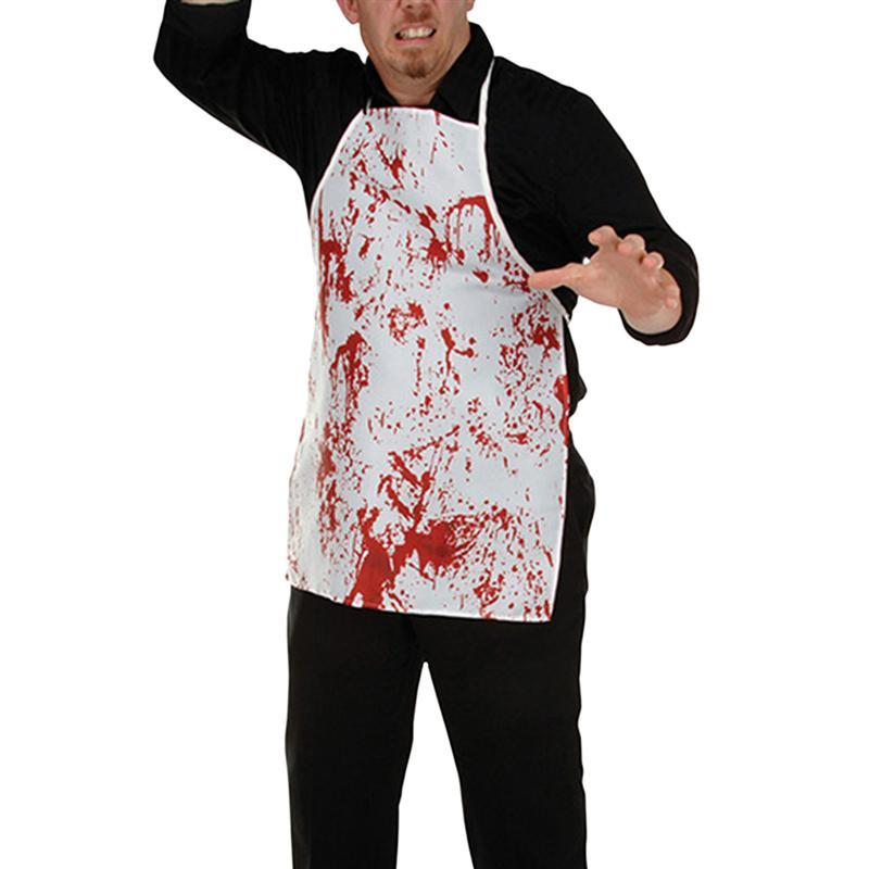 Home & Garden Horror Bloody Apron Novelty Fancy Dress Butchers Chef Kitchen Unisex Cook Adult For Halloween Costume Party Household Cleaning