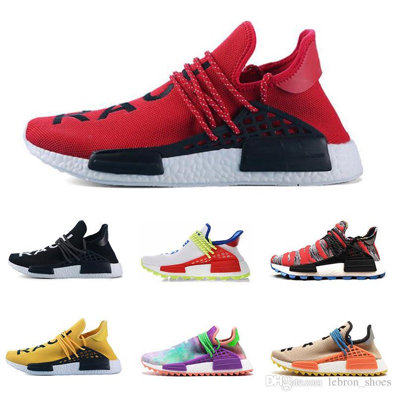 new arrivals 855d5 bc1d3 Best discount human race running shoes red Nerd black Blank Canvas Pharrell  Williams mens trainer women sneaker sports shoe size 5.5-12