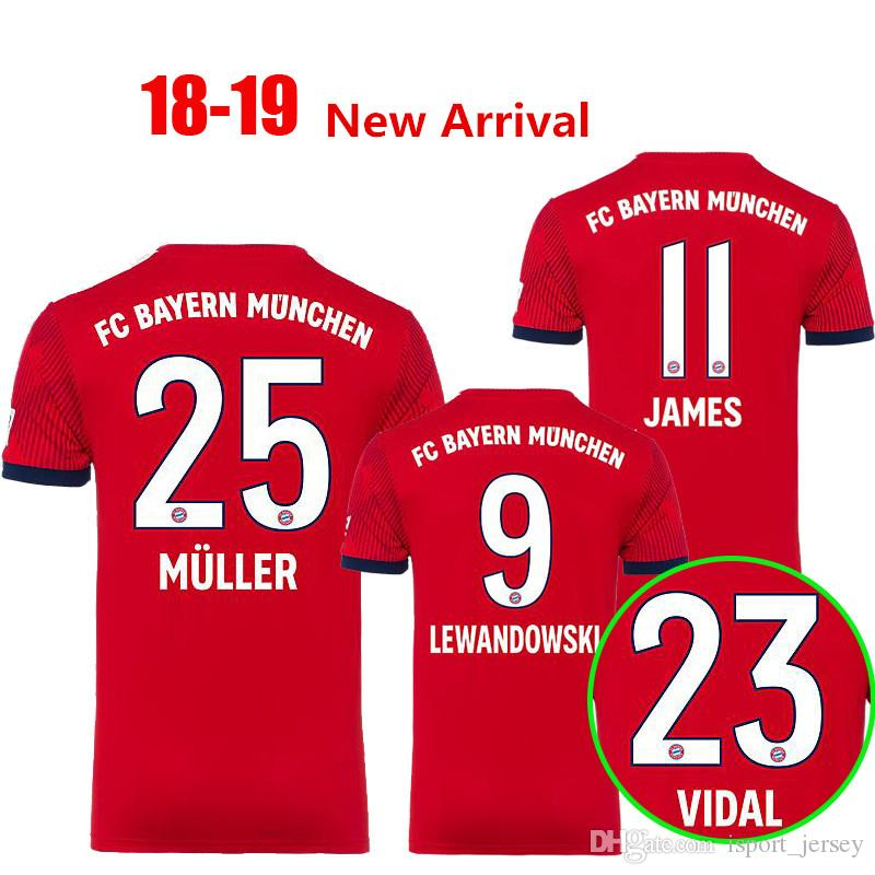 c3f4cf2b6ae TOP Thail 2018 2019 JAMES Soccer Jerseys VIDAL RIBERY GOTZE SANCHES ...