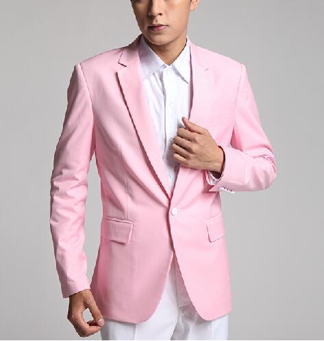 Compre Venta Caliente Personalizar Hecho Pink Blanco Verde Novio Esmoquin  Traje De Fiesta Cena Traje De Padrino De Boda Trajes De Fiesta De Baile  Chaqueta + ... 524a0cc5c44
