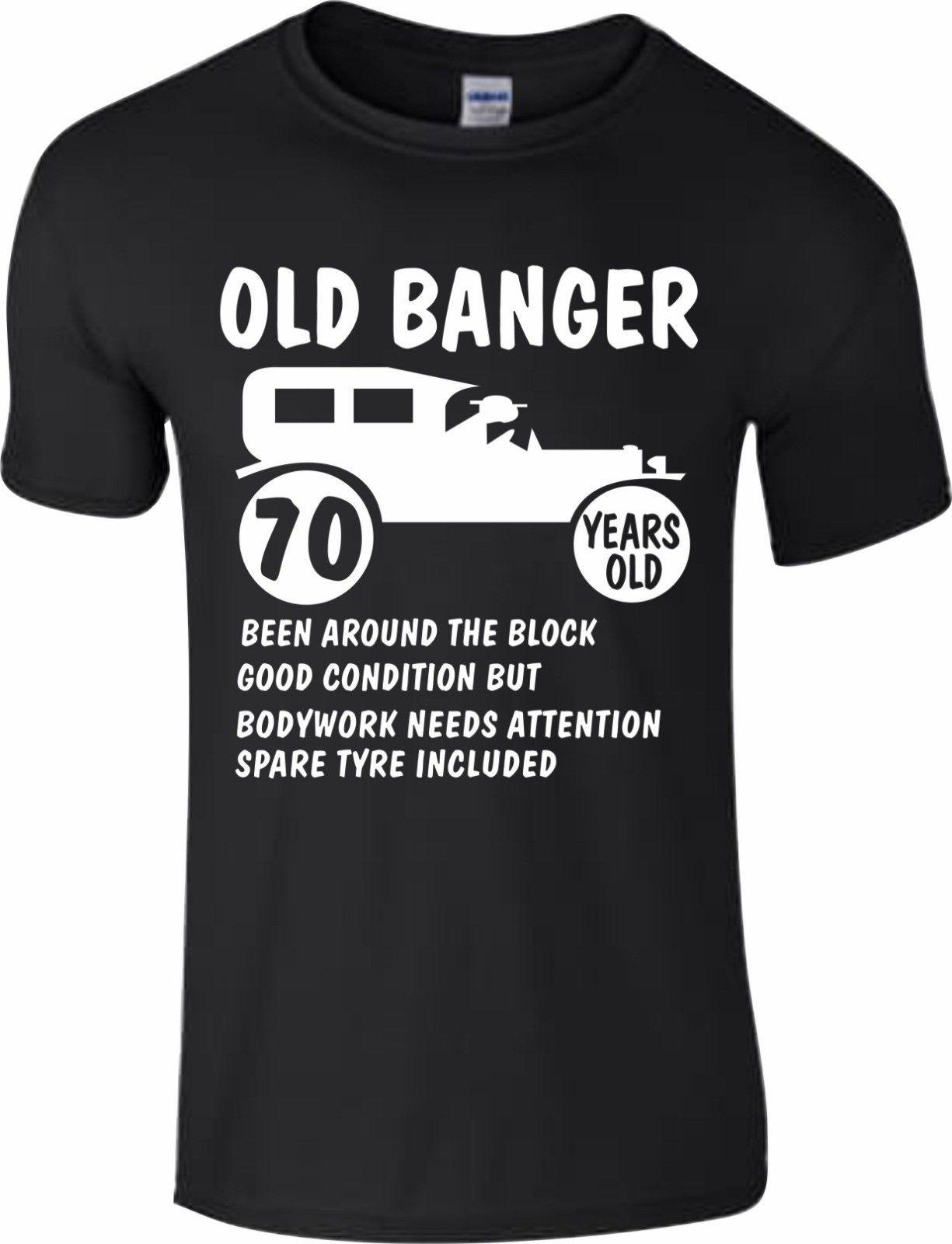 70th Birthday 1948 Age 70 Years Old Banger Present Gift T Shirt Funny Top Shirts For Sale Printed From Yg07tshirt 1205