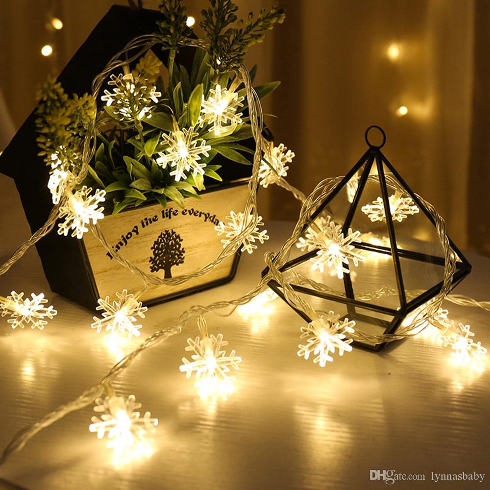 Garland Led Decoration 10m 100leds Snowflakes Led String Lights ...