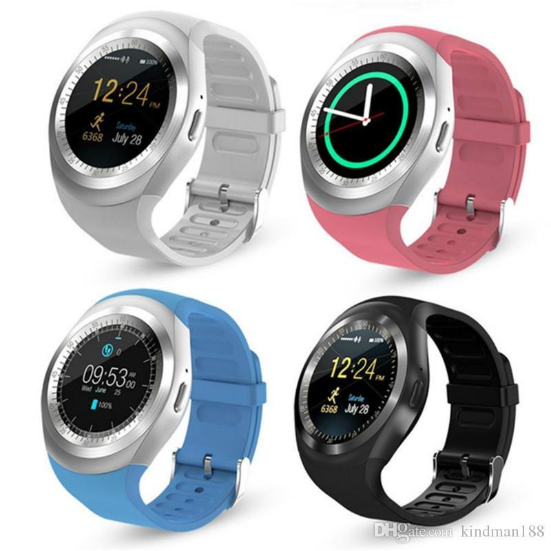 0c6f652b9cf5 Luxury Watches Relojes Inteligentes Y1 1.54 Pulgadas IPS Pantalla Táctil  Táctil Teléfono Smartwatch Resistente Al Agua Con Ranura Para Tarjeta SIM  U1 V8 ...