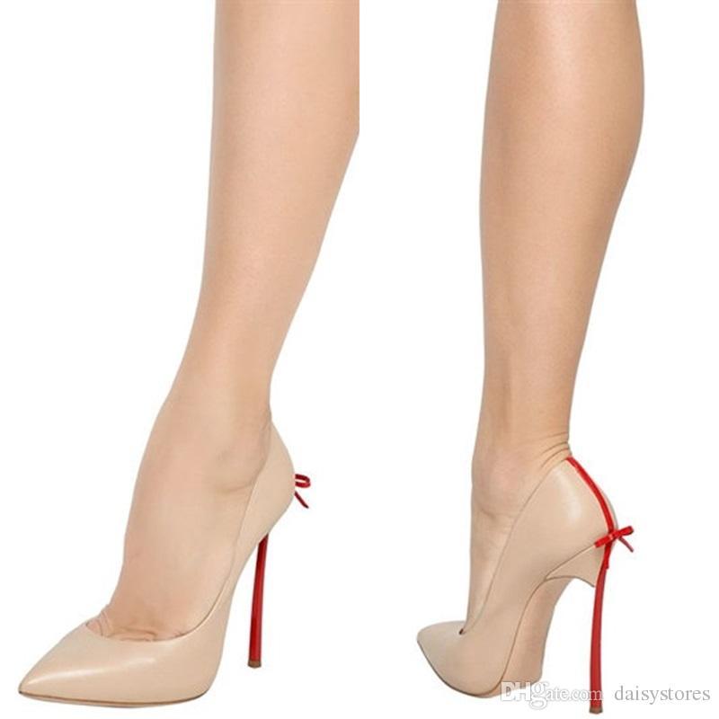 Sıcak satış papyon bıçak topuklu kadın pompaları kelebek seksi sivri burun düğün parti elbise ayakkabı yüksek topuklu büyük boy 43 drop shipping