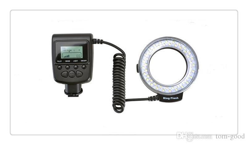RF-550 Makro LED Ring Blitzlicht Blitzlicht für NIKON Canon Olympus HDMI DSLR Kameras + LCD Display kostenloser Versand