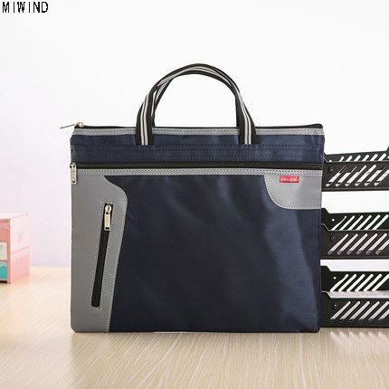 Nuove valigette per ufficio A4 in tela per uomini Donne Borsa da viaggio  leggera per uomini impermeabile Borsa per archiviazione di file Borsa per  cartelle ... 347633932a8