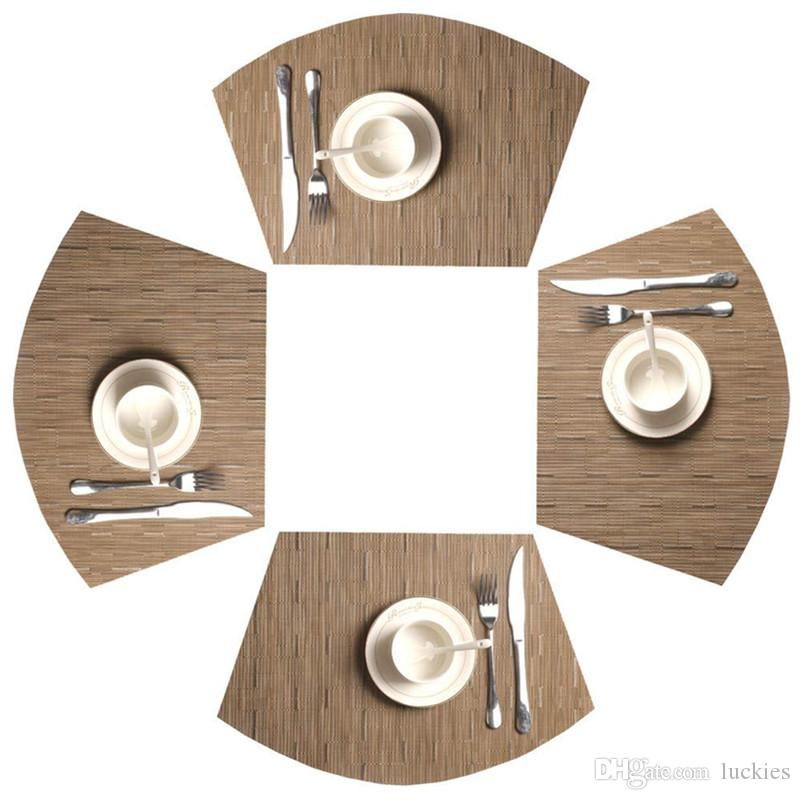 2019 Round Table Placemats Plastic Pvc Oval Shape Dining Table Mat