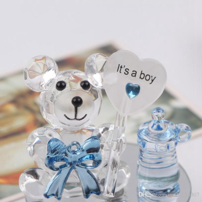 Grosshandel Kristall Bar Nippel Taufe Baby Shower Souvenirs Party