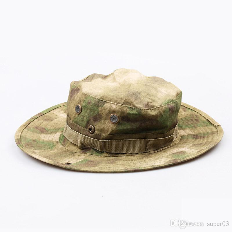 58e61536f7b 2018 Tactical Airsoft Sniper Camouflage Boonie Hats Nepalese Cap Militares  Army Mens Bucket Hat Military Accessories Hiking Hats Sun Hat Straw Hats  From ...