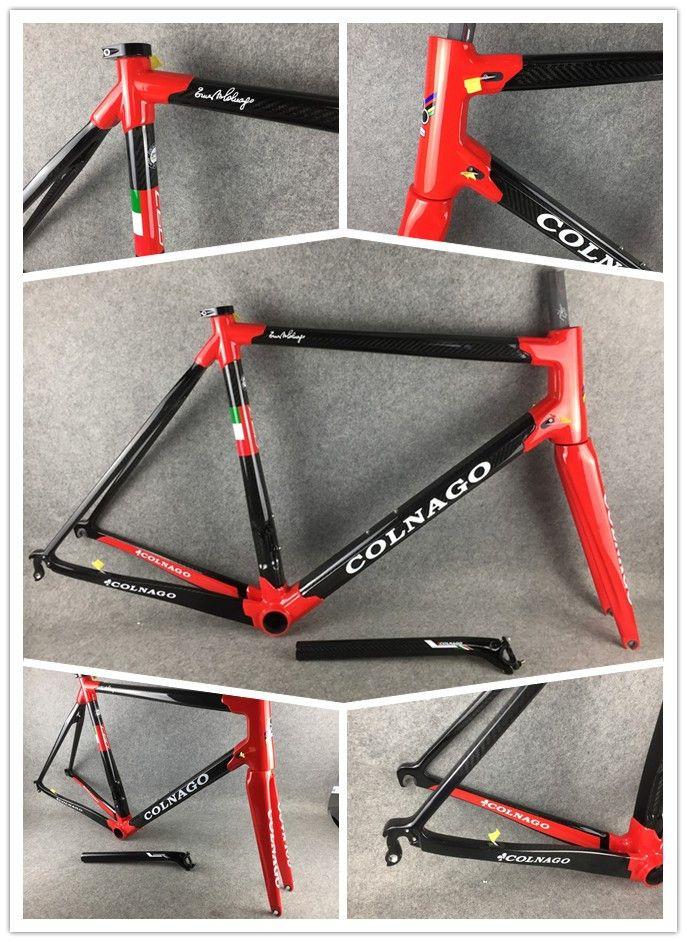 Häufig Großhandel Red Colnago C60 Rahmen Carbon Frameset Rennrad Rahmen BR03