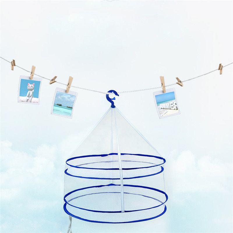 ec10142ea Drying Racks Hanging Clothes Laundry Net Mesh Basket Dryer Net ...