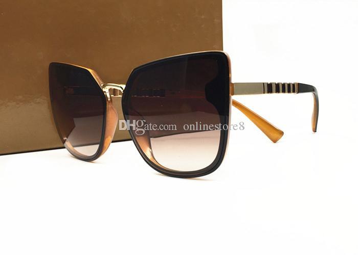 2018 New Color Women Lunettes de soleil Unique Oversize Shield UV400 Vintage Montures de lunettes design italie viennent avec boîte