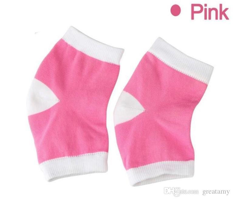 Jel Topuk Çorap Nemlendirici Spa Jel Çorap 4 Renkler pamuk Ayak Bakımı Çatlak Ayak Kuru Sert Cilt Koruyucu Topuk Desteği