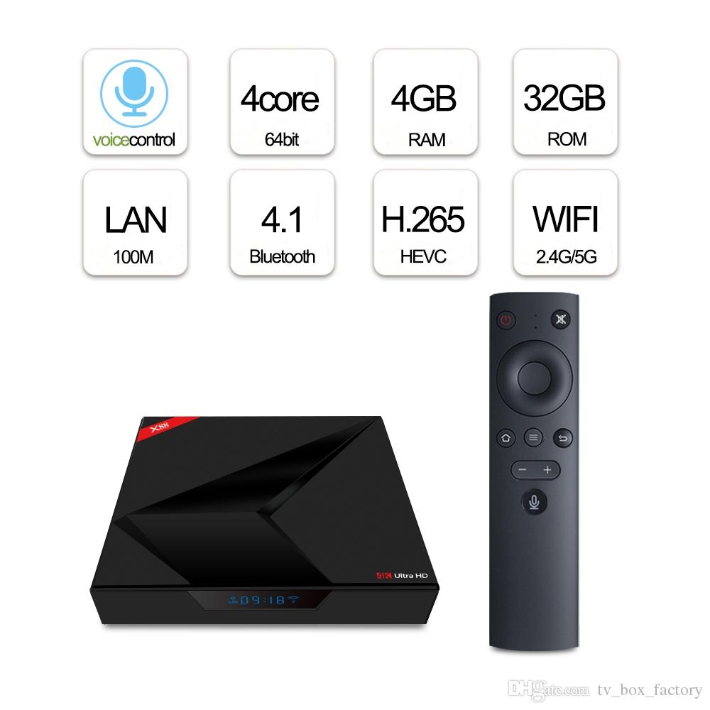 Google Voice Control Android TV Box X88 RK3328 Smart Streaming Box Android TV 7.1 OS Dual WiFi Bluetooth 4.1 LCD display