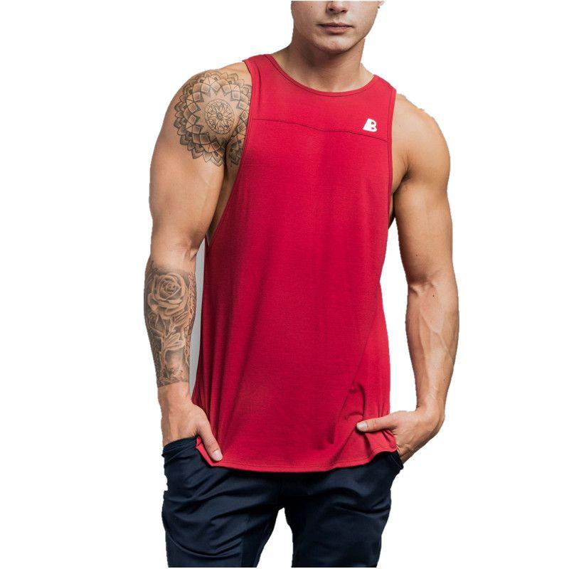 2f006dae9eec8 Brand New Bodybuilding Tank Top Men Gyms-Clothing Stringer Fitness Gyms  Shirt Brand Clothing Muscle Workout Cotton Tank Top Tank Tops Cheap Tank  Tops Brand ...