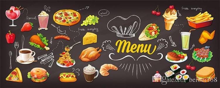 Custom photo wallpaper 3D Hamburger restaurant coffee shop tea house fast food hot pot dining room mural wallpaper