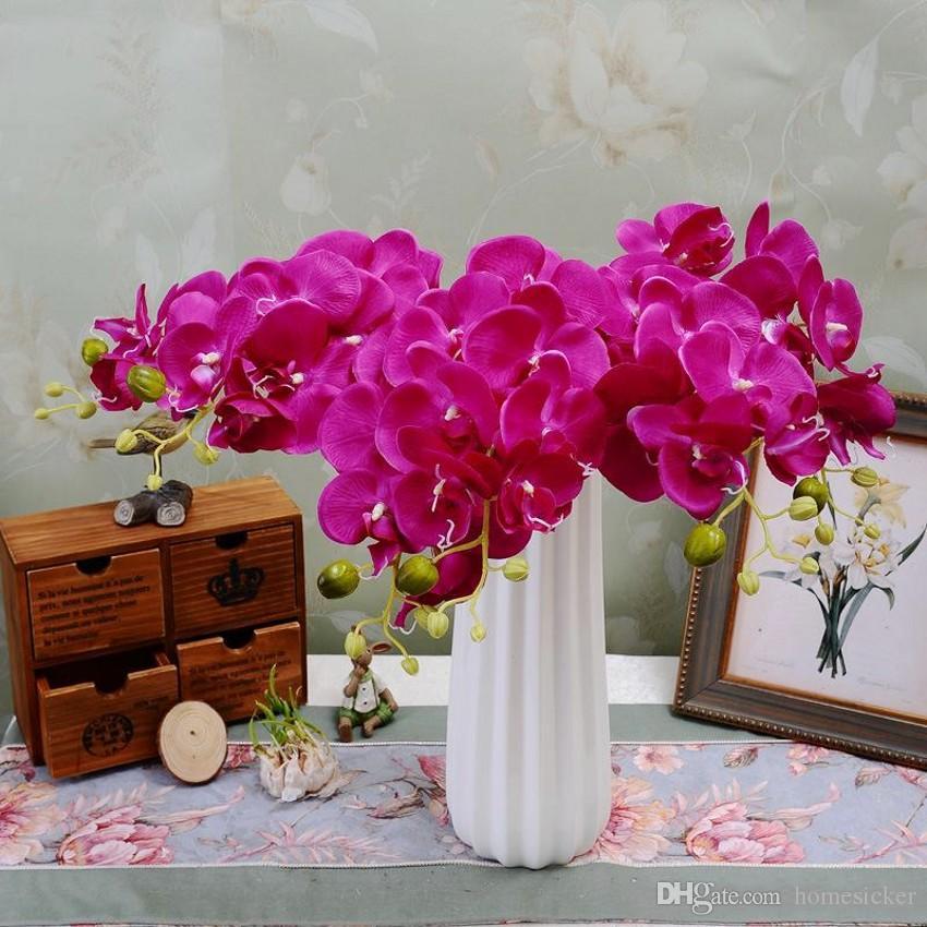 populaire blanc fleur d'orchidée papillon Phalaenopsis 78cm / 30.71