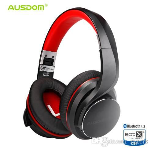 7846e8c639e Ausdom AH3 AptX Low Latency Wireless Headphones Bluetooth 4.2 Over Ear  Foldable Bass Boosted Headset Lip Sync Sound For Gaming Childrens Headphones  Cordless ...