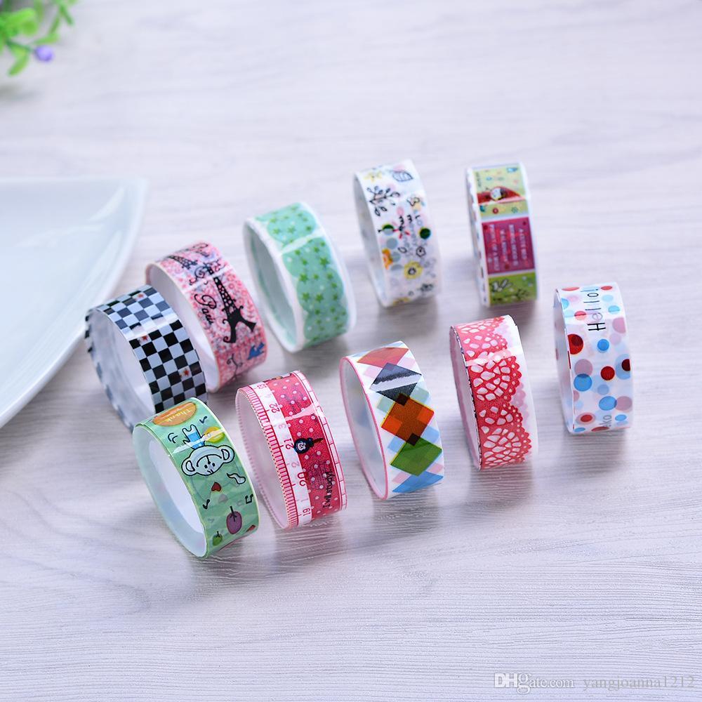 Korea 2016 Kawaii Adhesive Tapes Cute Stickers Scrapbooking Children's Kindergarten DIY Cute Decorative Label Tapes kids Gift
