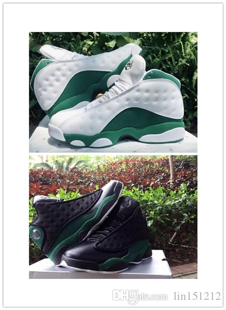 the best attitude 66f10 b0f6b New 13 13s Ray Allen PE Clover Green Black White Air Men Basketball Shoes  Airs Training Sneakers 2018 High Quality Shoes size US8-12