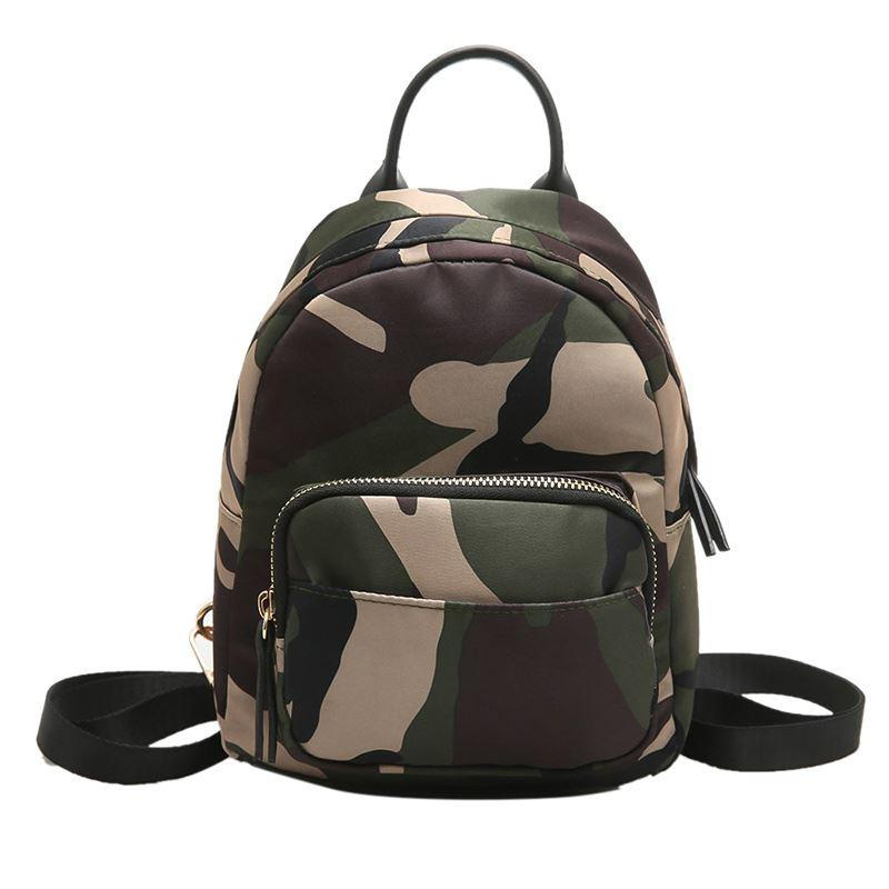 cfe6acafef25 Cute Camouflage Backpack Women Mobile Phone Bag Brand Knapsack Student Travel  Bags Teenager Girl Handbag Mini Fashion School Bag Swiss Army Backpack  Black ...