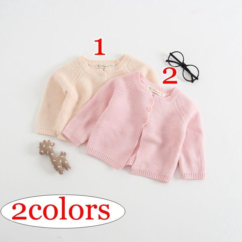 f2605167c Spring Winter 100% Cotton Girls Wool Knitted Outwear Coat Girls ...