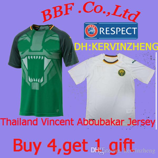 a0d7c4f27a Thailand T-shirt Player Version Cameroon Soccer Jersey Vincent ...