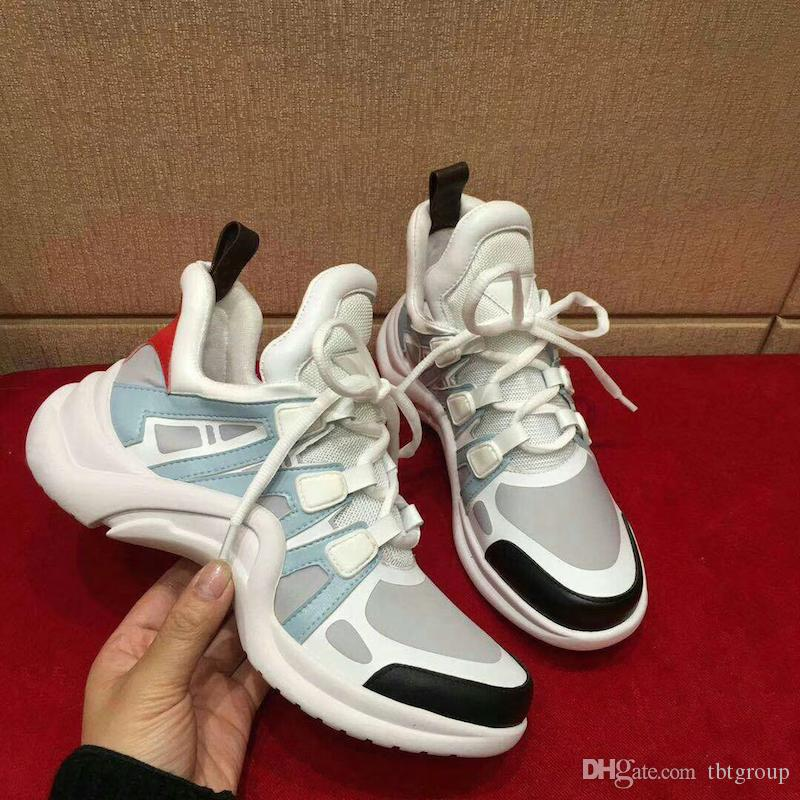 Acheter 2018 NOUVEAU Top Designer Femmes Archlight Sneakers Hommes  Véritable En Cuir Baskets TPU Semelle Extérieure Casual Chaussures Runner  Chaussures 7 ... 4e88307d5fd