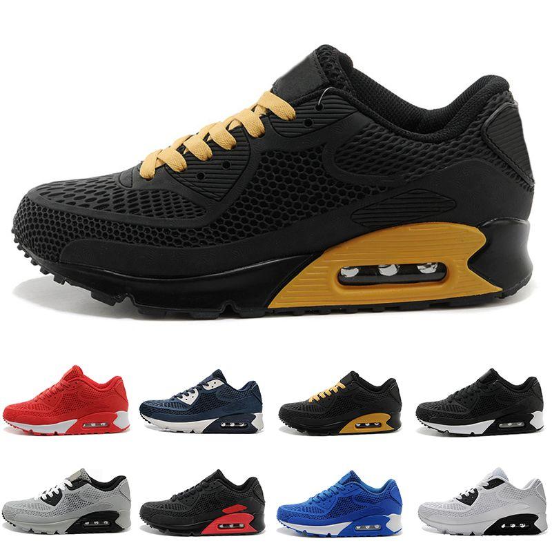 super popular 6007d 7cd1a Compre Nike Air Max 90 KPU Trainer Sports Sneakers Atacado De Alta  Qualidade Mulheres Flair Triplo Preto 270 AH8050 Trainer 90 Único 97 98 95  Sapatos ...