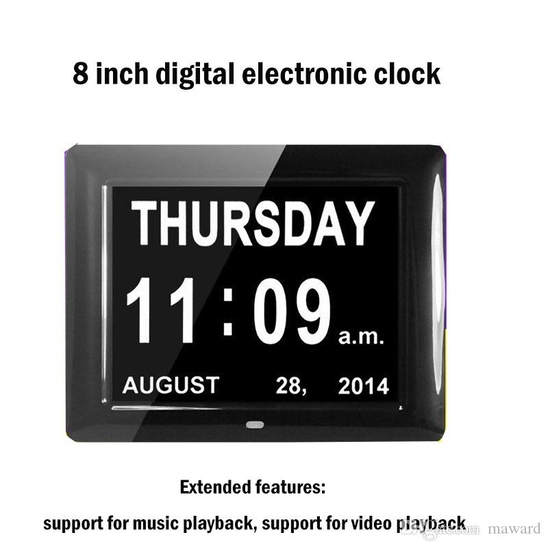 Calendario digital de 8 pulgadas de una sola cara calendario marco de fotos de moda led álbum de regalo calendario digital foto marco