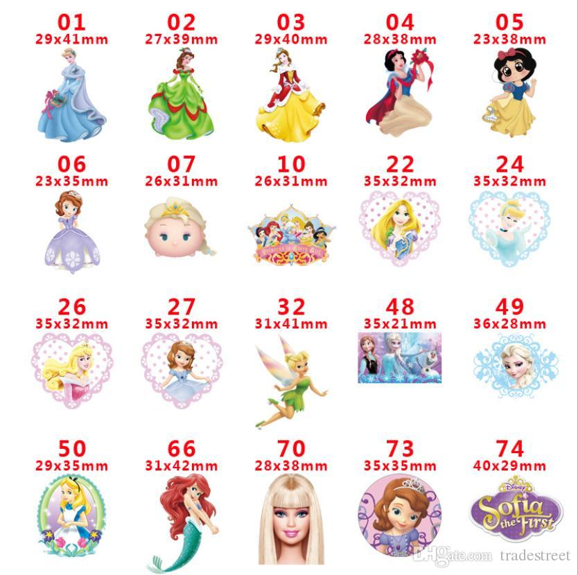 free shipping 50pcs Cute Cartoon Girl Flat back Planar Resins Cabochon DIY Craft Embellishments For Home Decoration hair Accessories A